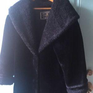 Coat Faux Fur, M, EUC